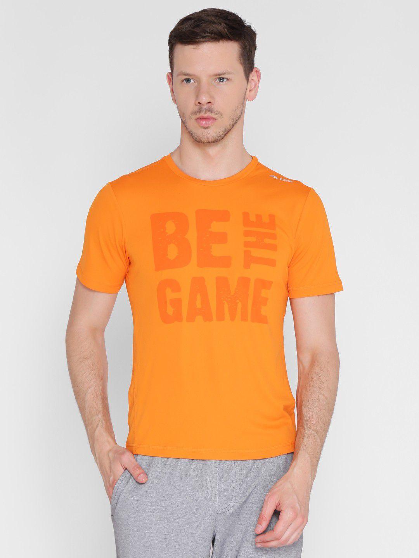 Alcis Mens Printed Orange Running T-Shirt