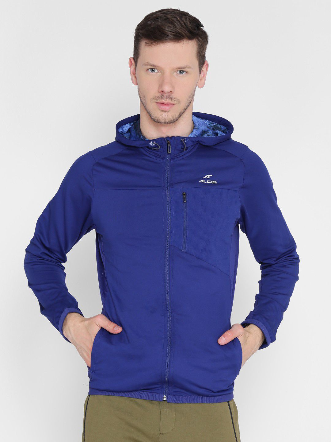 Alcis Mens Solid Blue Track Jacket