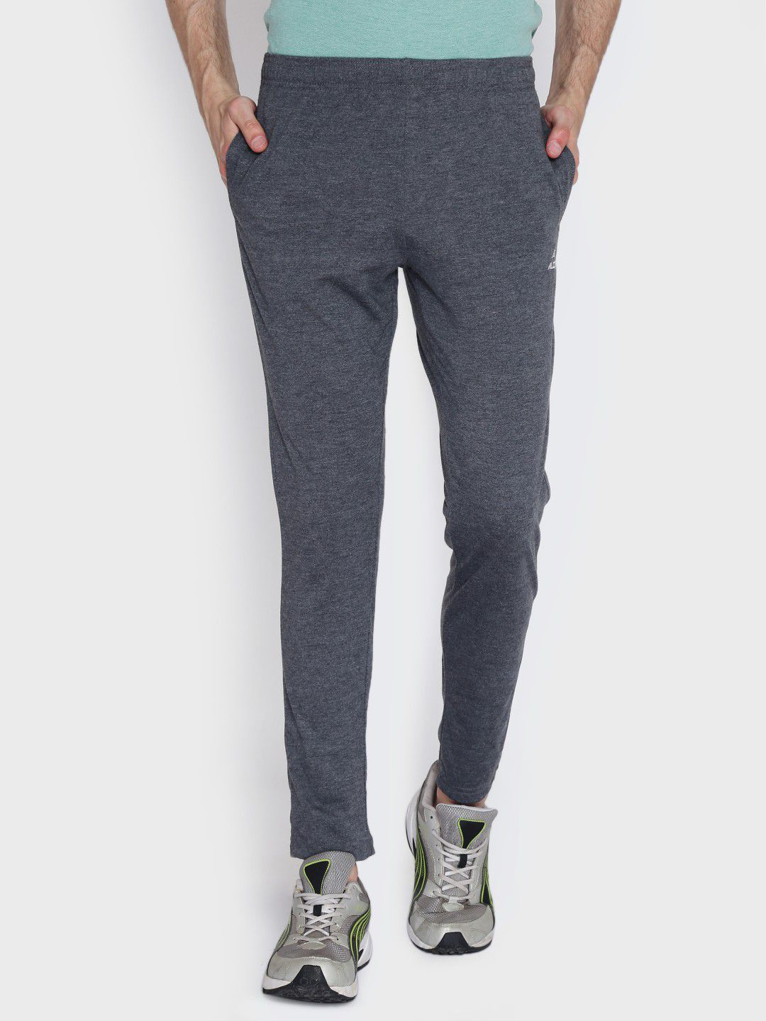 Alcis Mens Solid Dark Grey Trackpant