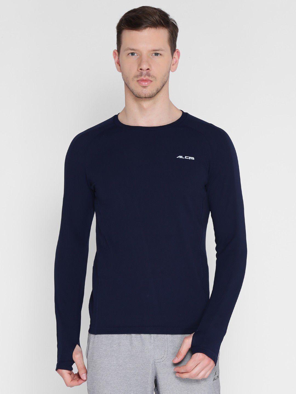 Alcis Mens Solid Navy Running T-Shirt