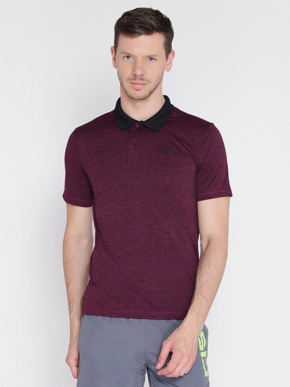 Alcis Mens Solid Purple Polo T-Shirt