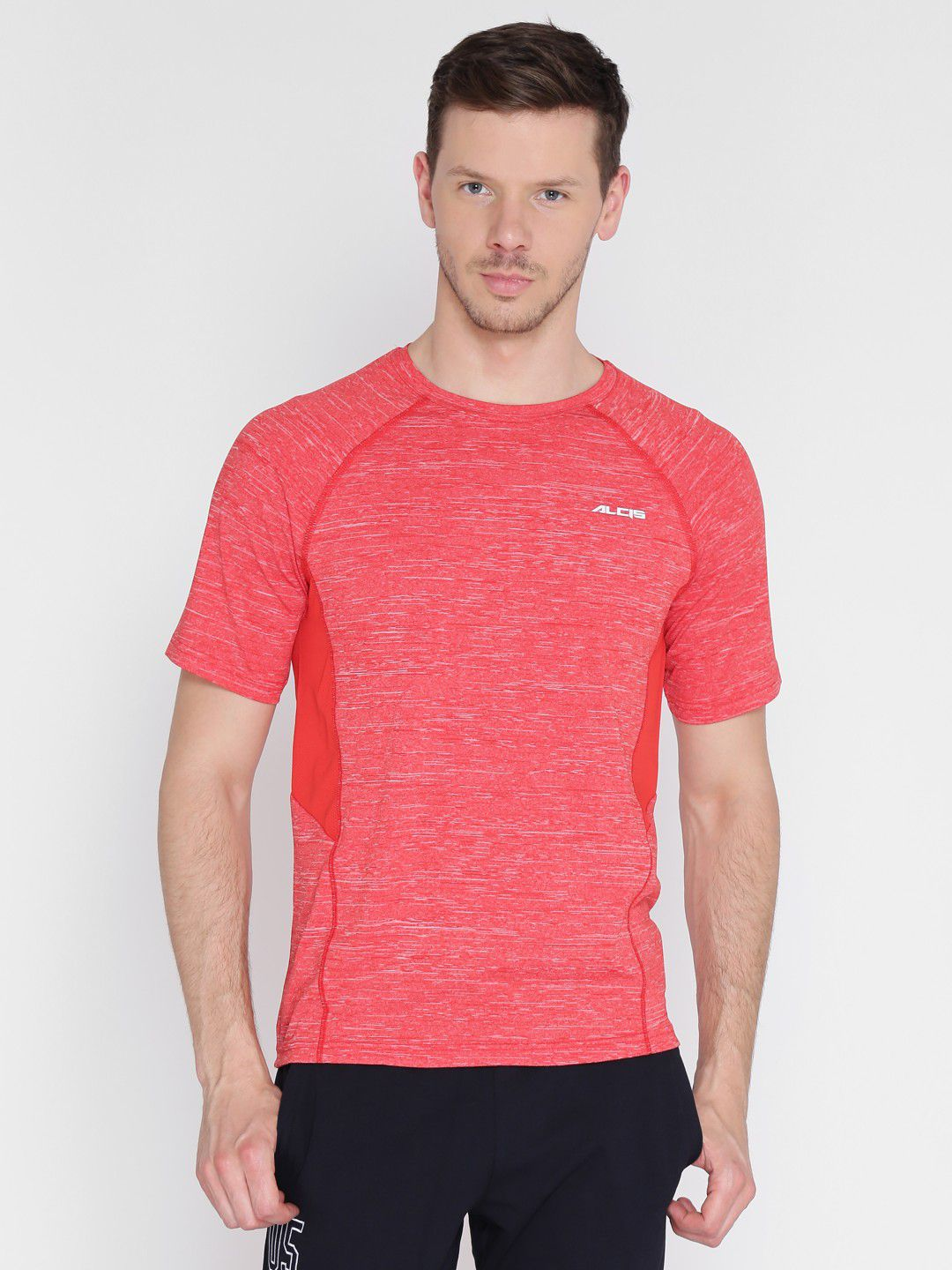 Alcis Mens Solid Red Training T-Shirt