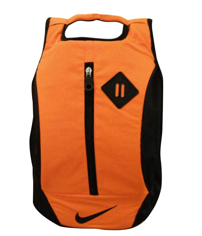 Nike Bag Backpack College School Laptop Orange Color