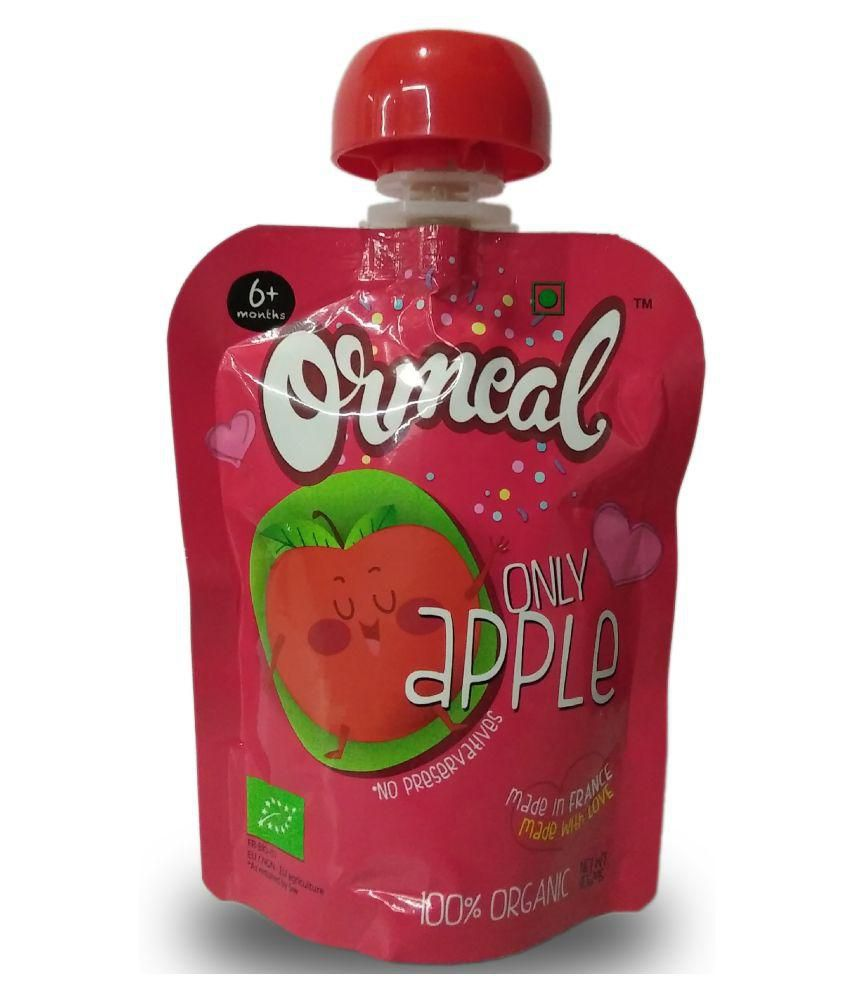 Ormeal Organic Fruit Purees Organic Only Apple Puree Fruit for 6 Months + ( 90 gm )