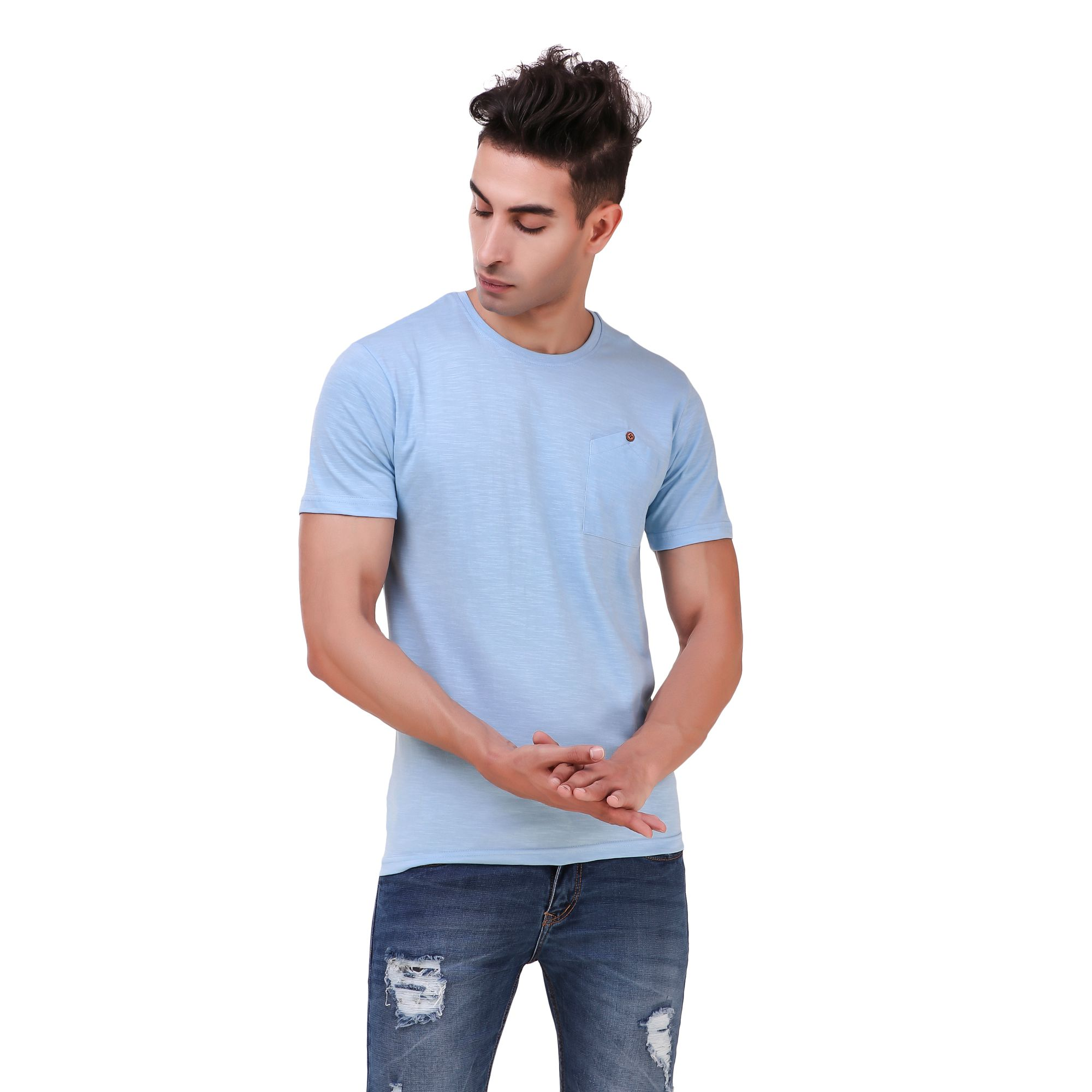 REMEDY Blue Round T-Shirt