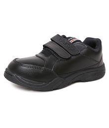 Xpert Golablk Kids Formal School Shoes, Boys School Sports Shoes, Unisex Kids School Shoes, Kids Velcro School Shoes - Black, Size-US/ERO-33/UK/IN-1