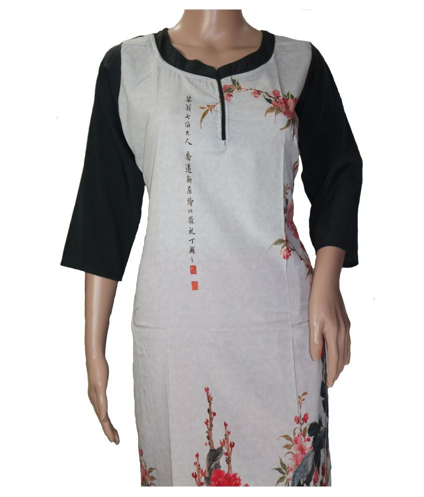 Ridhema Fashion Multicoloured Rayon A-line Kurti