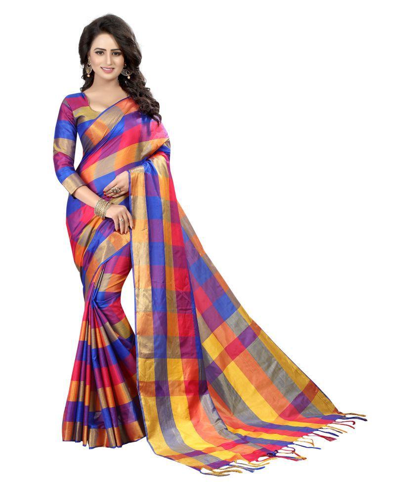 Utsav Designer Pink Cotton Silk Saree