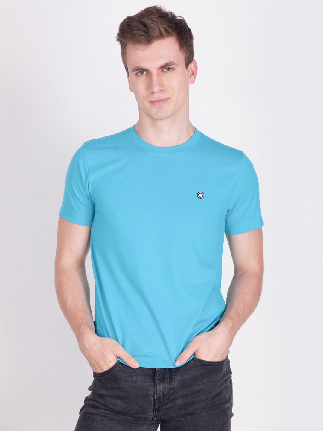Force Go Wear Blue Round T-Shirt Pack of 1