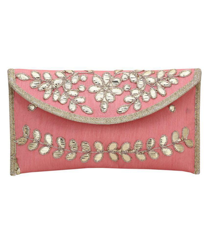 Inner Beats Pink Silk Box Clutch