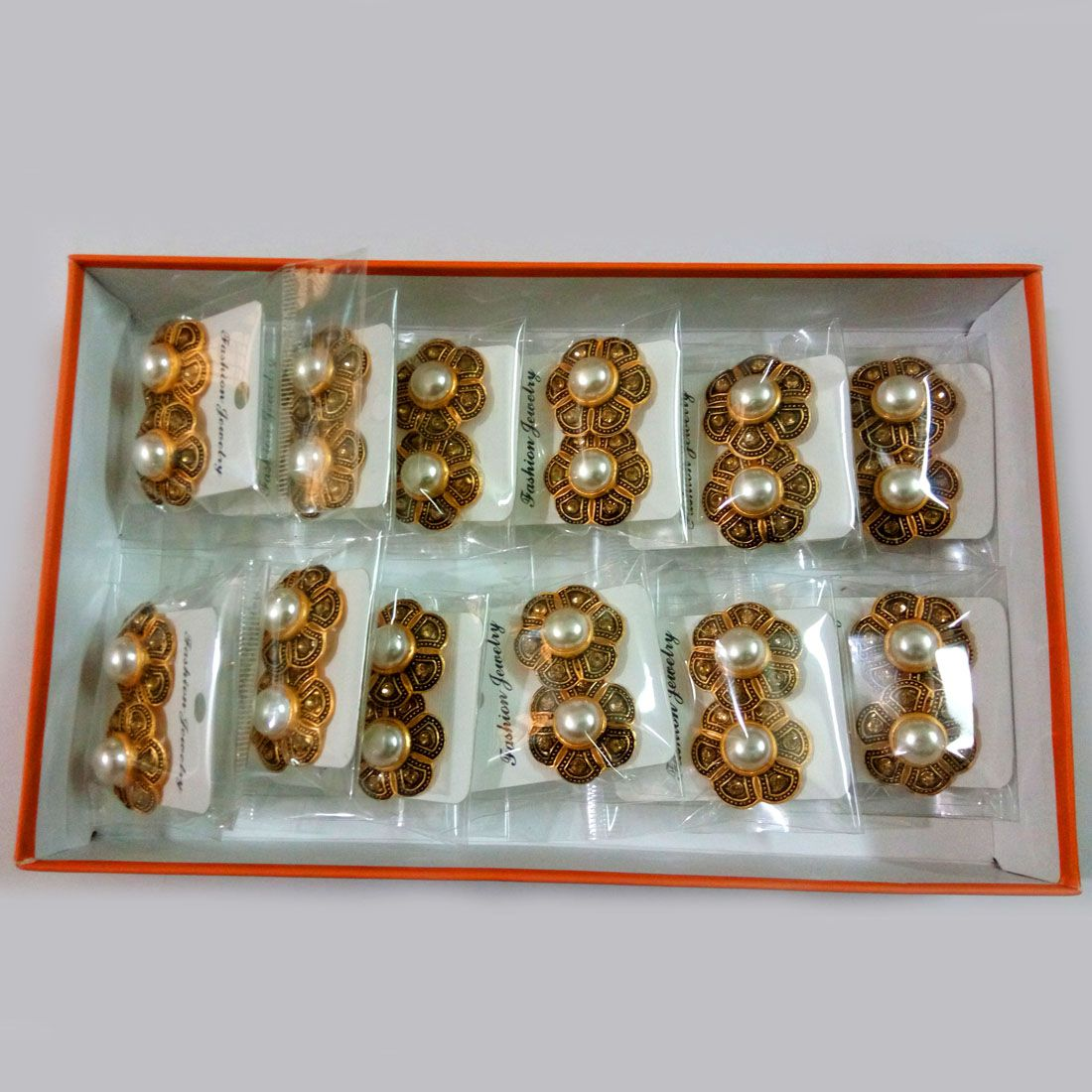 Jaipur Mart White Color Imitation Peral 12 Pairs Of Earrings Combo
