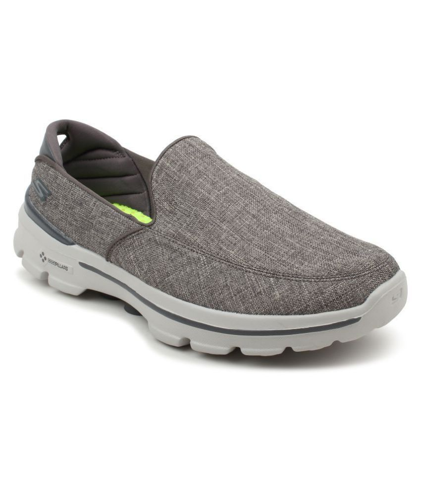 Skechers 54053 GO Walk 3 Gray Running Shoes - Buy Skechers 54053 GO Walk 3  Gray Running Shoes Online at Best Prices in India on Snapdeal e65336272df0