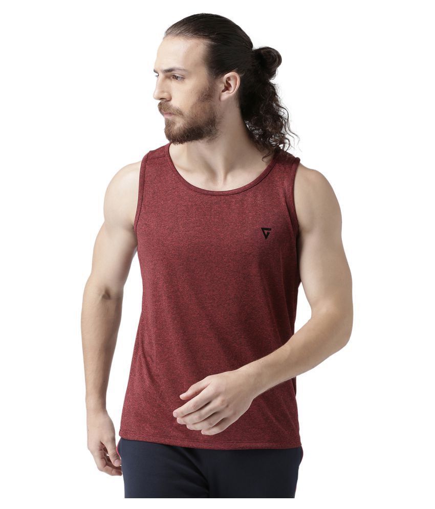 GRIFFEL Maroon Henley T-Shirt Pack of 1