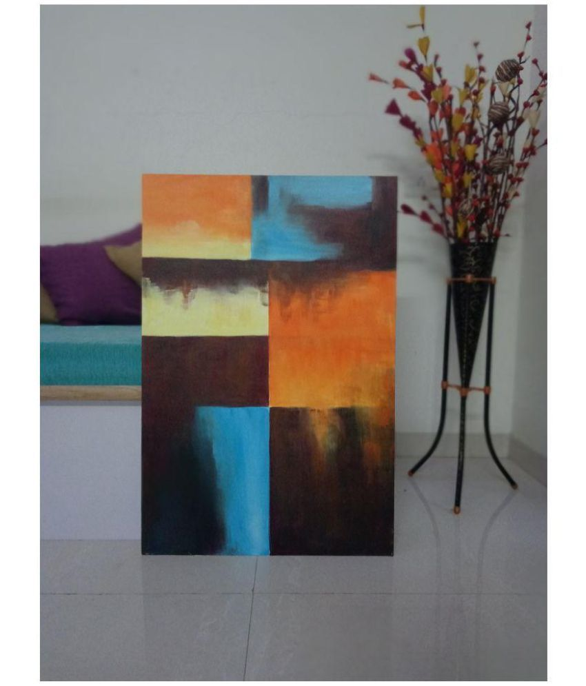 Vrushali's ART WESTERN WALLS Canvas Painting Without Frame