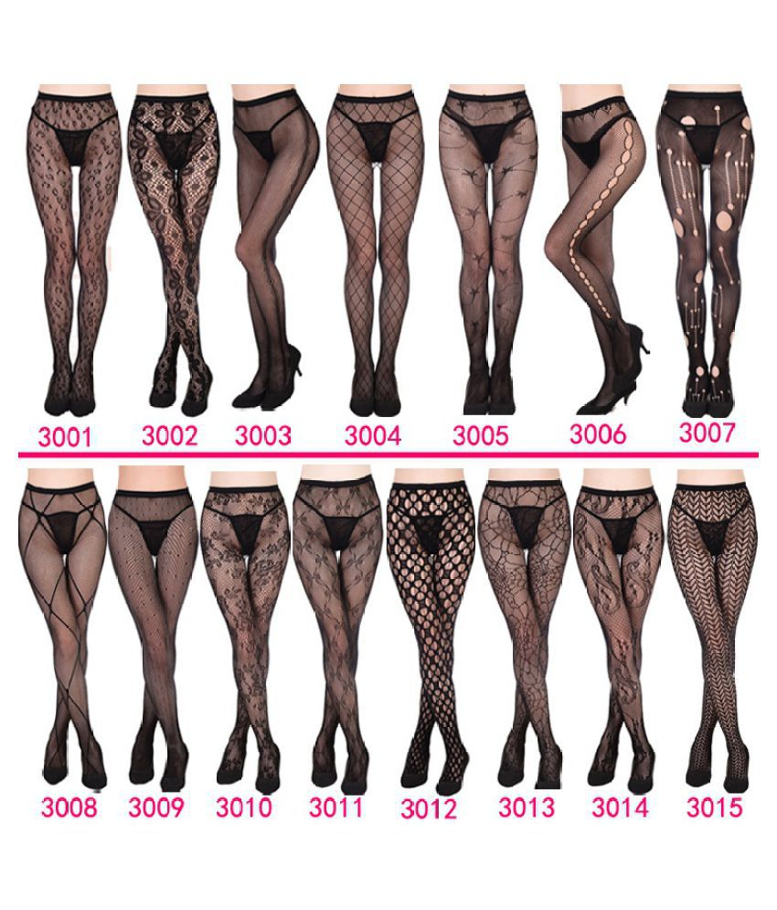eb1f03add Black Fishnet Net Open Crotch Crotchless Tight Elastic Stockings Panty Hose  Pantyhose Sexy for Lady Girls: Buy Online at Low Price in India - Snapdeal