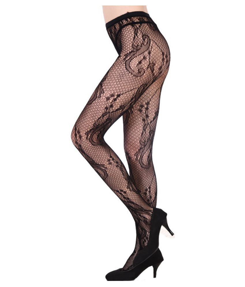 2ab047cfbc0d5a ... Black Fishnet Net Open Crotch Crotchless Tight Elastic Stockings Panty  Hose Pantyhose Sexy for Lady Girls ...