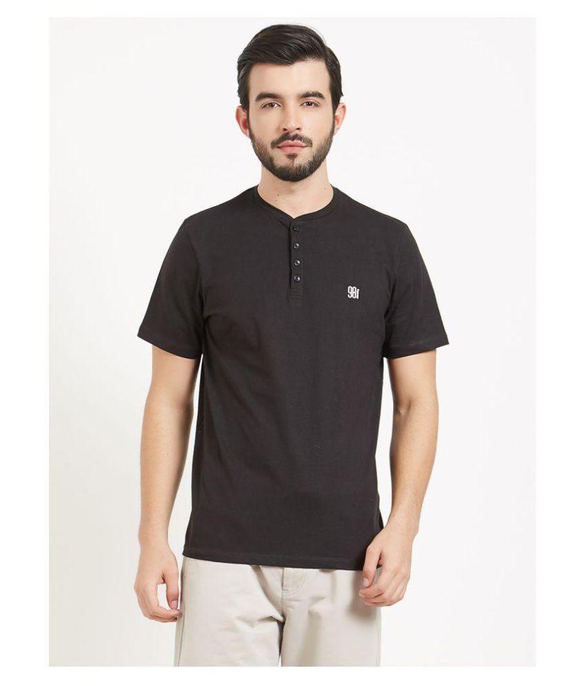 BONATY Black Henley T-Shirt Pack of 1