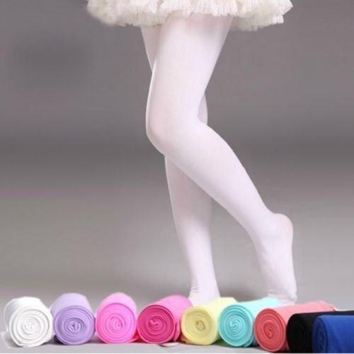 Sweet Girls Kids Winter Hosiery Pantyhose Stockings Ballet Dance Leggings Footed Tights