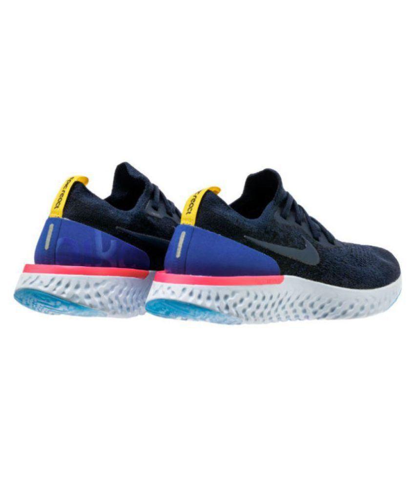 682fb79a831 Nike Epic React Flyknit Black Running Shoes - Buy Nike Epic React ...