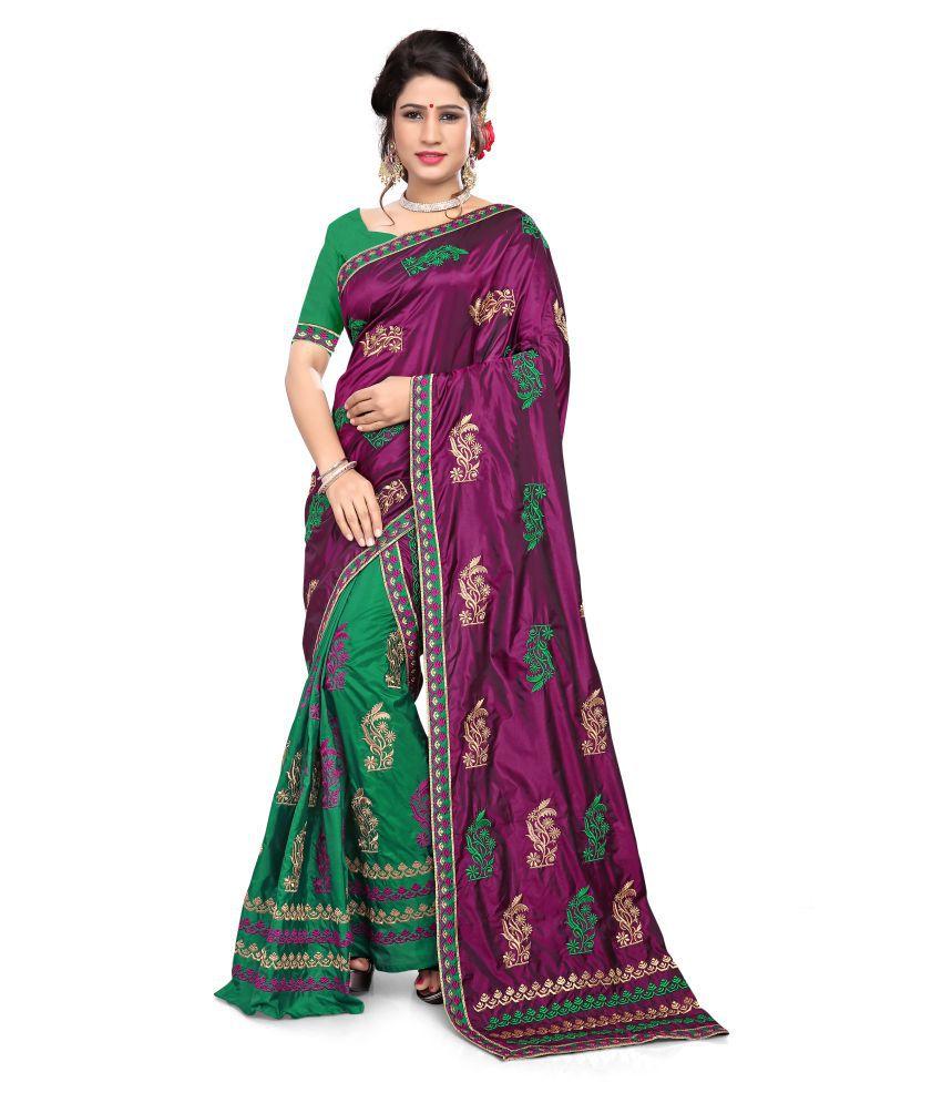 S. Kiran's Multicoloured Mekhla Chador Art Silk Saree