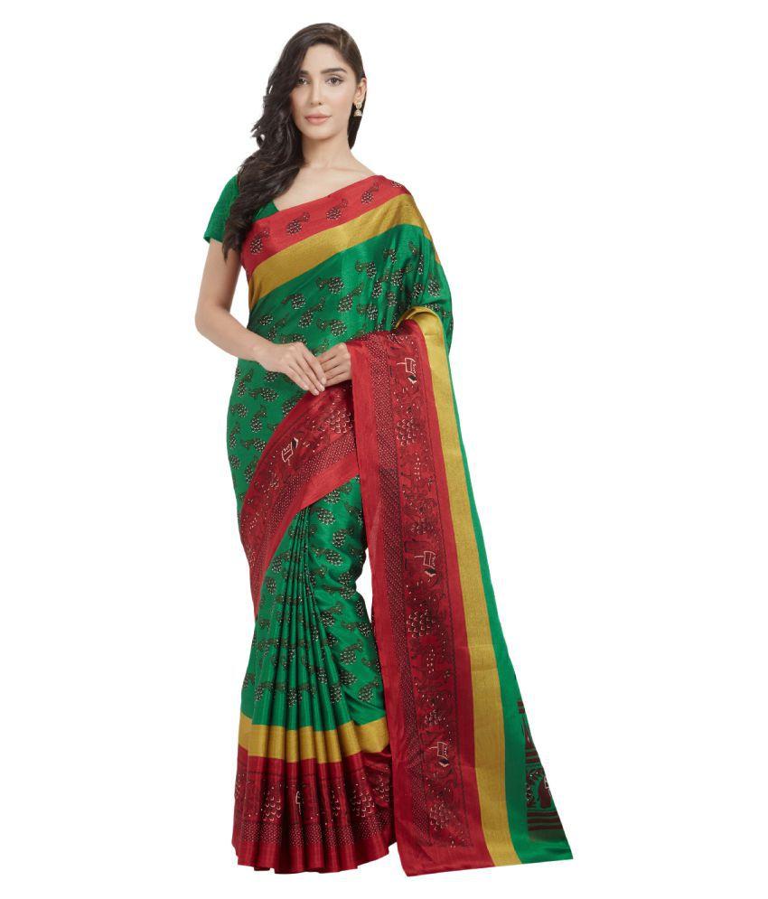 Today Deal Green Art Silk Saree
