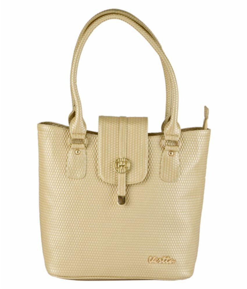 Vestta Cream P.U. Tote Bag