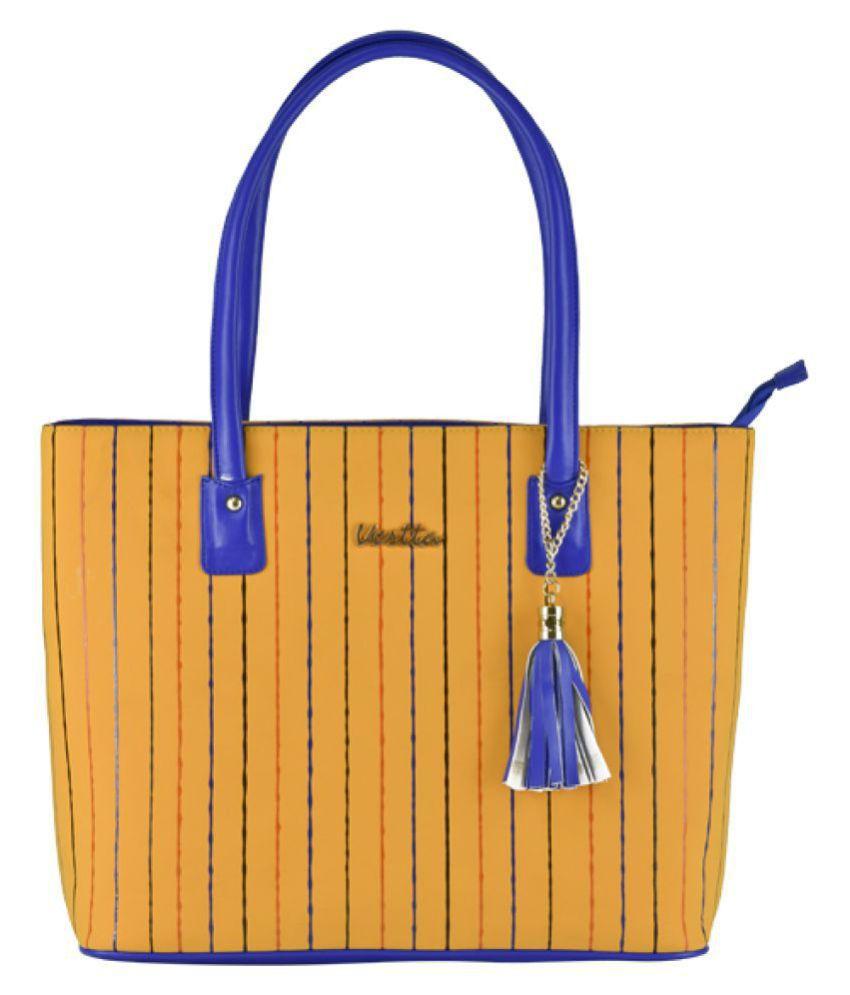 Vestta Yellow P.U. Tote Bag