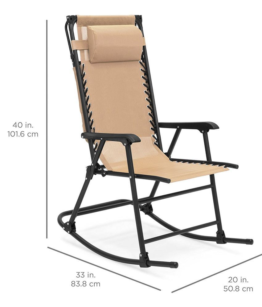 Folding Rocking Chair Portable Outdoor Rocker Porch Zero Gravity Patio  Furniture W/Sunshade Canopy And ...