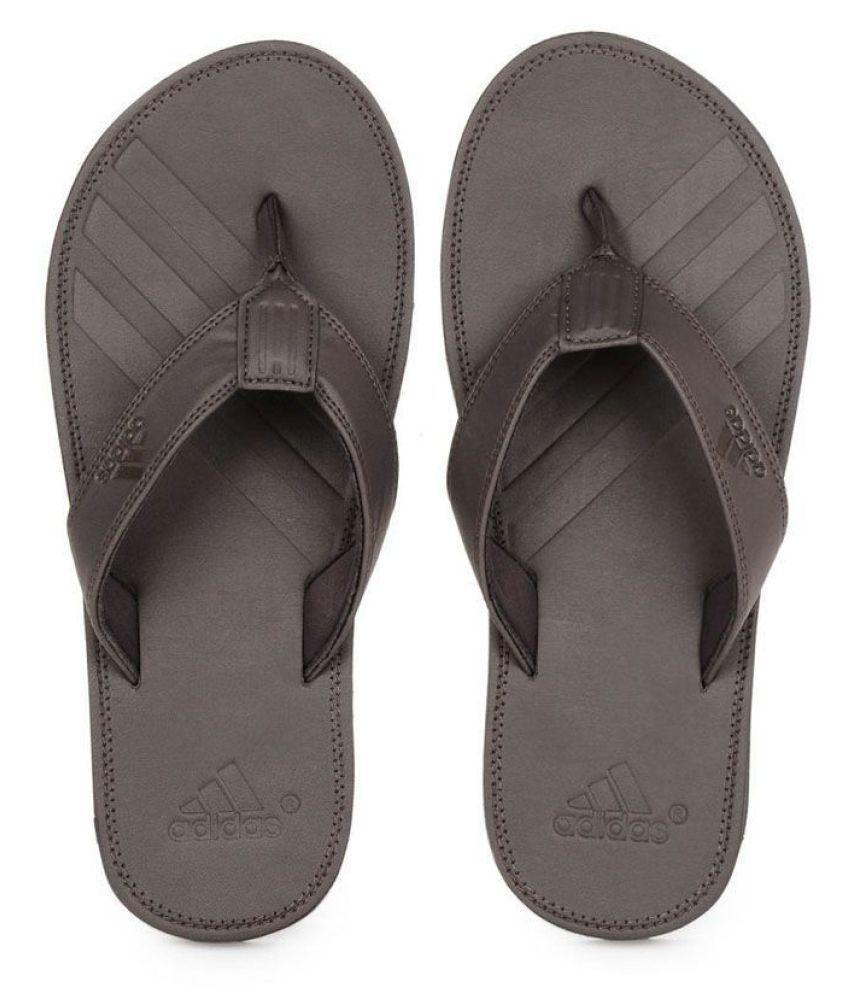 0fc4912561e5ea ... Adidas Q17265 Brown Thong Flip Flop ...
