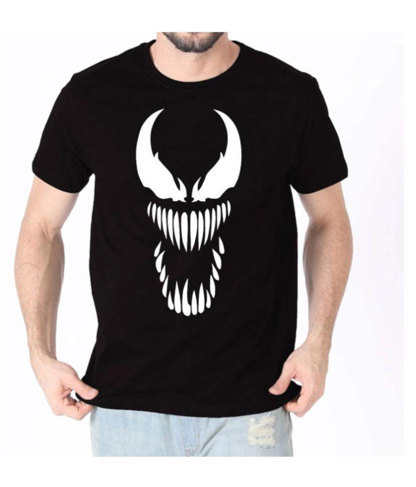 DINKCART Black Round T-Shirt Pack of 1