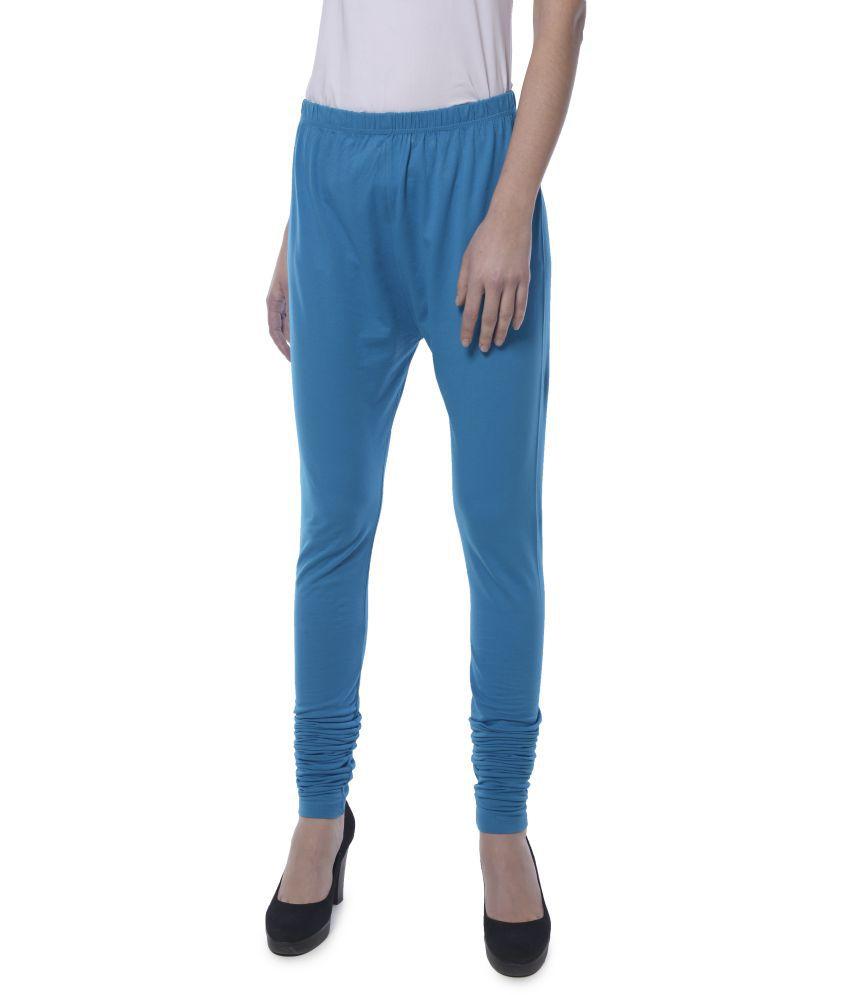 Yaadleen Cotton Jeggings - Turquoise