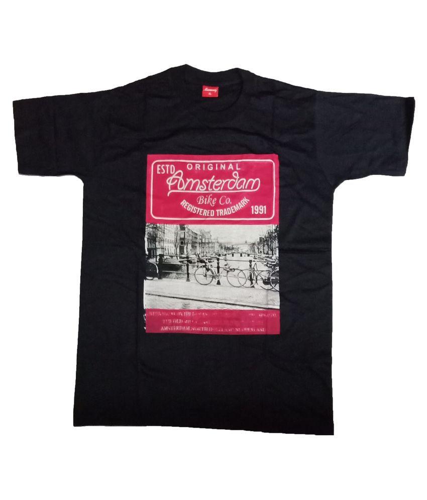 Ayezent Black Round T-Shirt Pack of 1