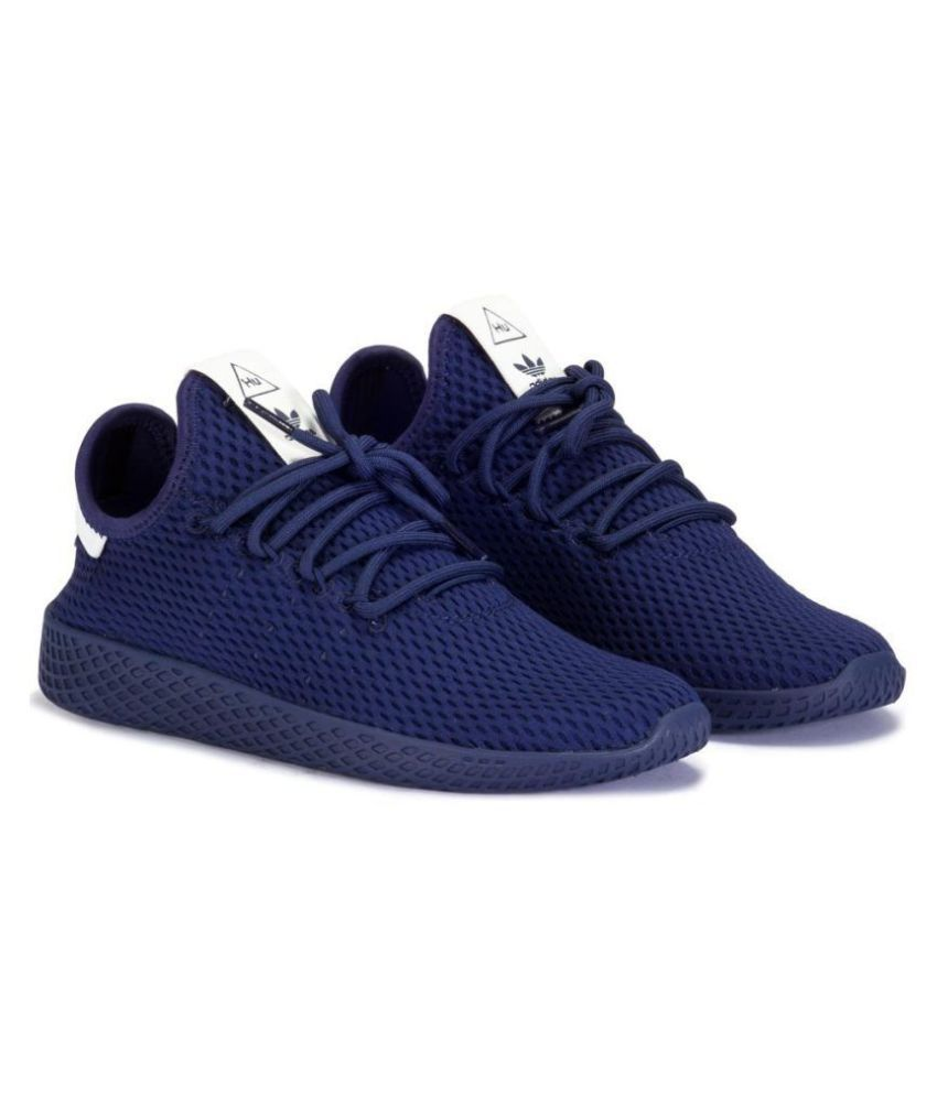 cheap for discount a115b cb850 ... Adidas Pharrell Williams Tennis HU Navy Running Shoes ...