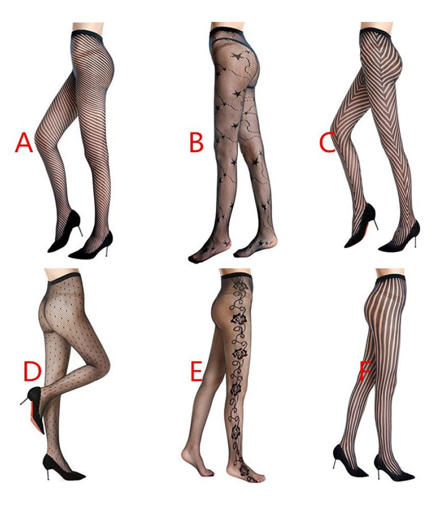 Lady Women's Fishnet Patterned Tights Pantyhose Stockings