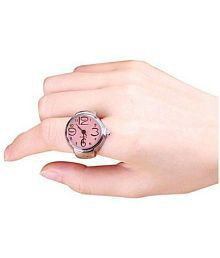 GT Gala Time Light Pink Dial Finger Ring Analogue Watch For Girls & Women