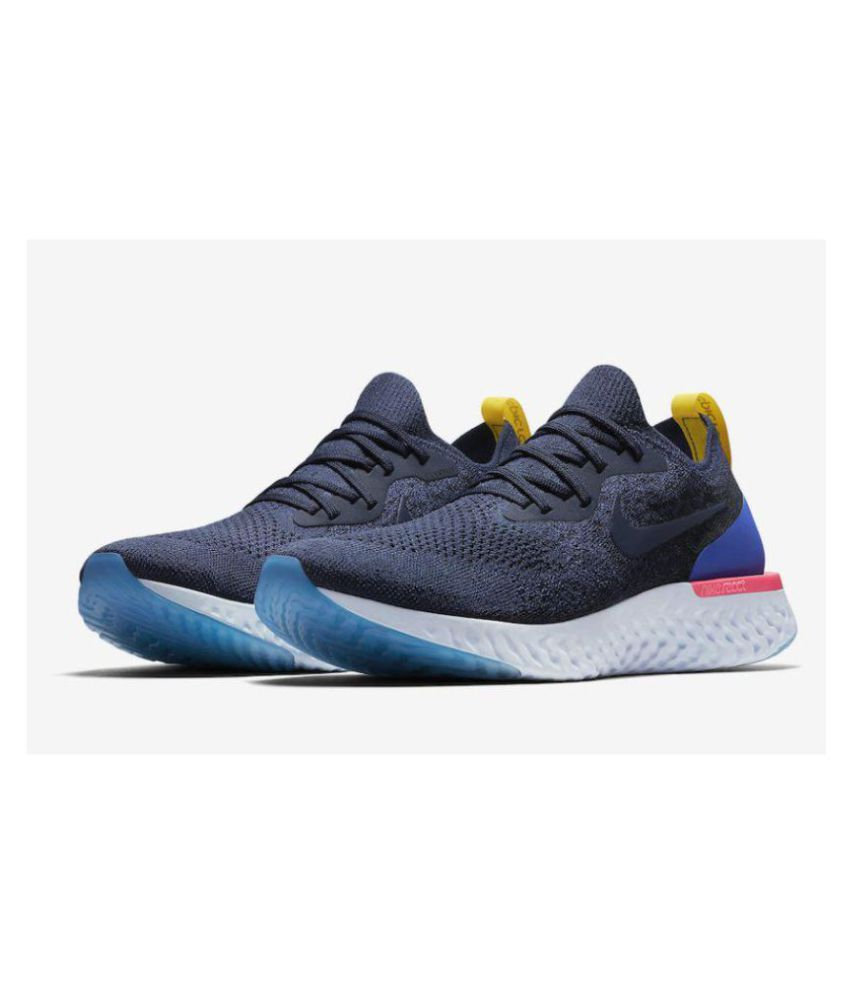 d4d8246cb7b Nike Epic React Flyknit Blue Running Shoes - Buy Nike Epic React ...