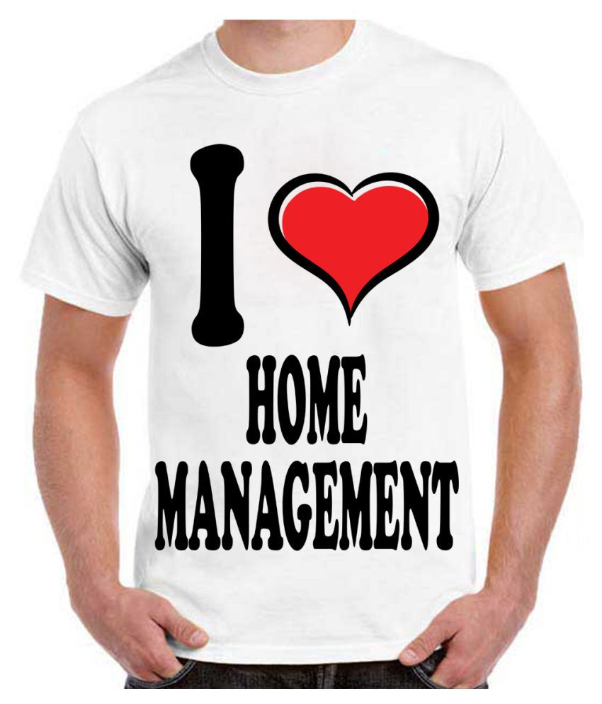 RITZEES White Dry Fit Polyester Tshirt on I Love Home Management-XXL