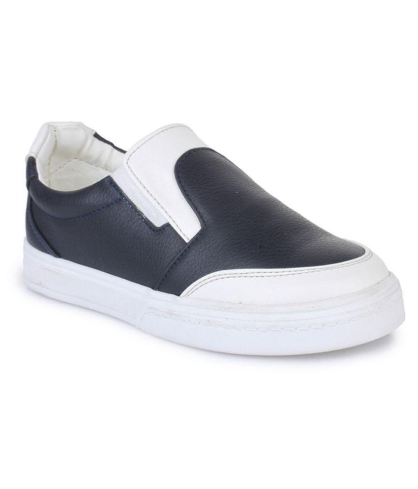 Bruno Manetti Navy Kids Unisex Faux Leather Sneakers