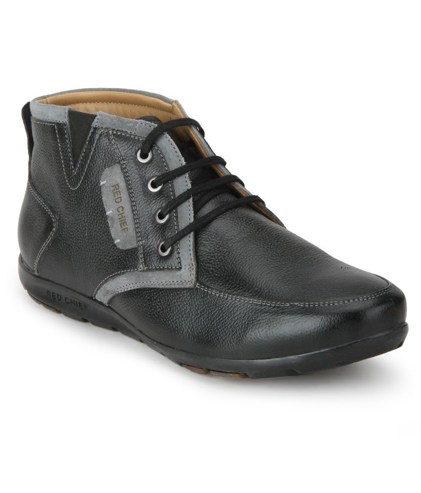 Red Chief RC3514 001 Lifestyle Black Casual Boots