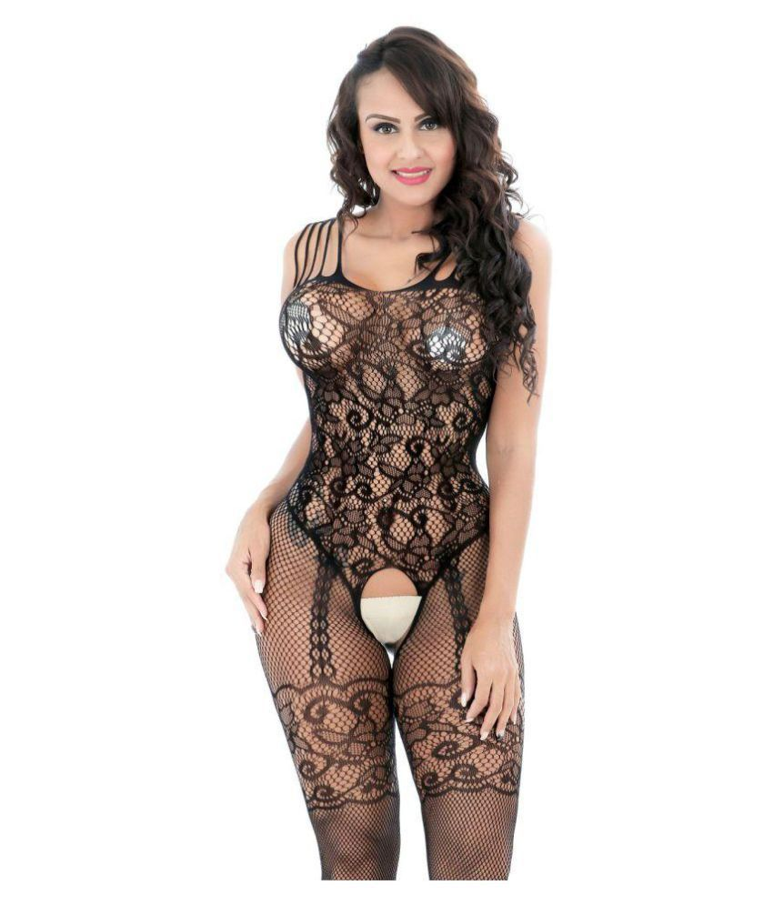 afc260a1dab Women s Bodystocking Fishnet Bodysuit Crotchless Lingerie   Free Thong  Buy  Online at Low Price in India - Snapdeal