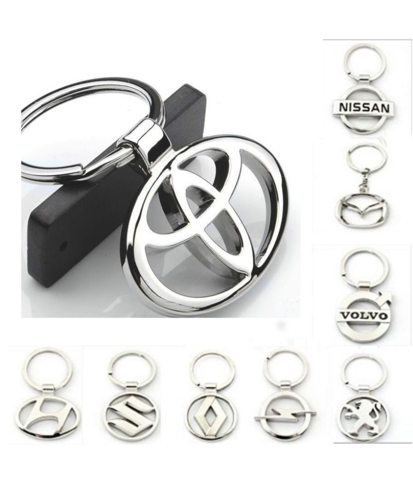 23 Kinds of Car Logo Zinc Alloy Hollow Key chain Key Ring
