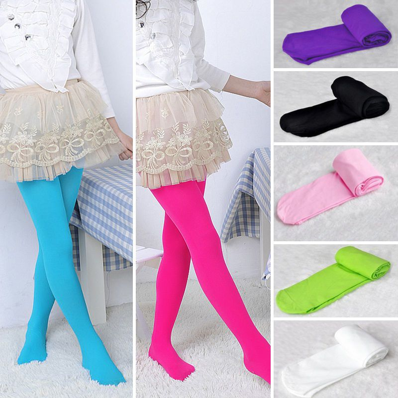Cute Girl Kid BaBy Colorful Tights Pantyhose Stockings Velvet Ballet Socks 0-12 Years