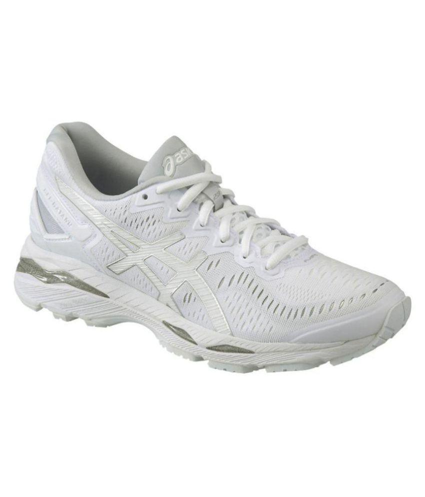 buy online 2de91 1e08c Asics GEL-KAYANO 23 White Running Shoes