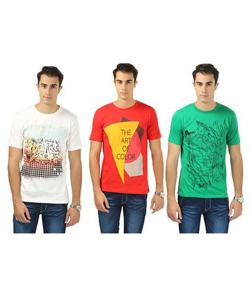 Barevogue Multi Round T-Shirt Pack of 3