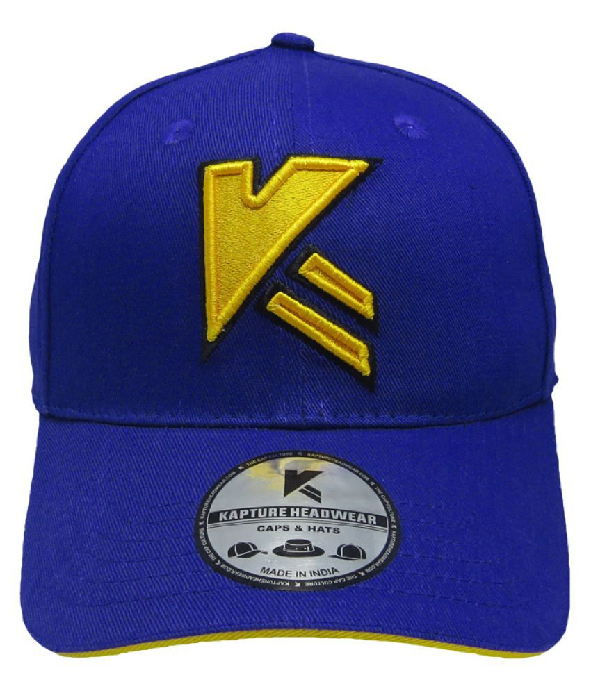 Kapture Headwear Blue Cotton Caps