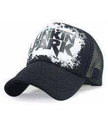 5e42dcb1abf Quick View. Printed Linkin Park Printed In Black Colour Half Net Cap