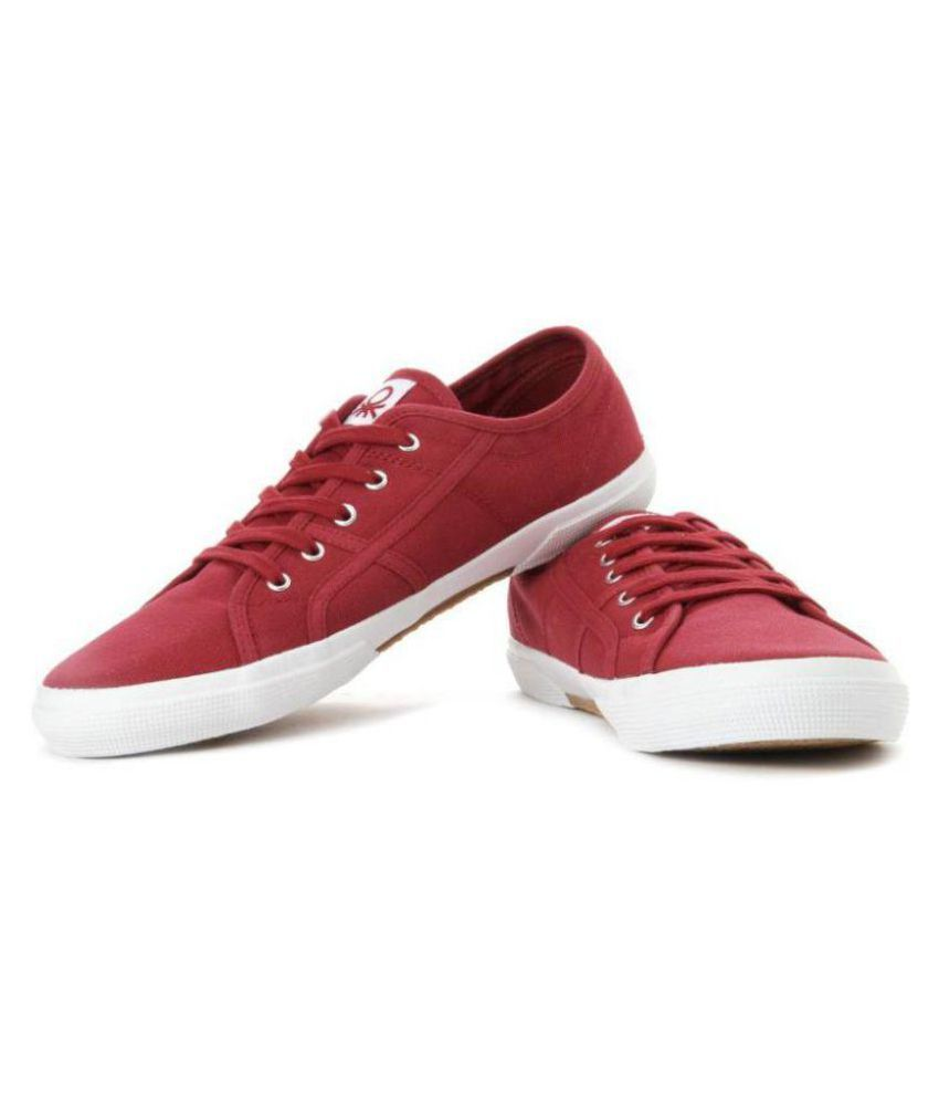 UCB Benetton Sneakers Red Casual Shoes
