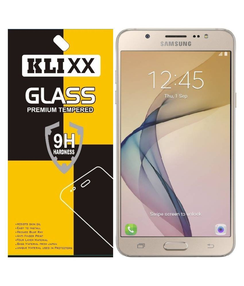 Samsung Galaxy On8 Tempered Glass Screen Guard By Klixx