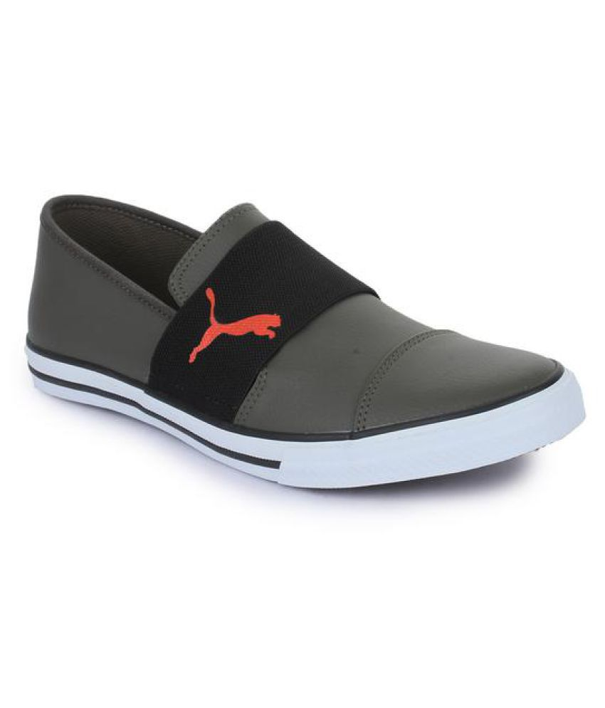 f344c711d803ec Puma Alpha Slip on SL IDP Boat Gray Casual Shoes - Buy Puma Alpha Slip on SL  IDP Boat Gray Casual Shoes Online at Best Prices in India on Snapdeal