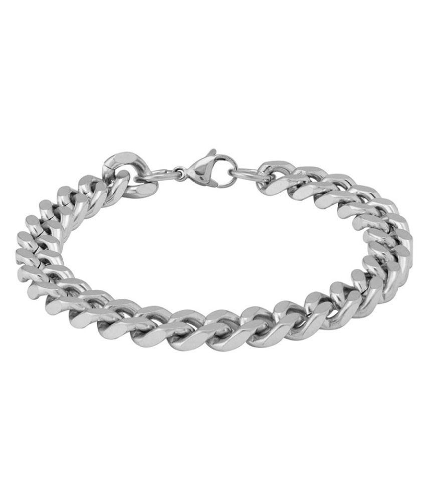 Stylish Silver Plated Men's Link Bracelet